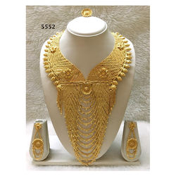 African Design Gold Plated Wedding Collection Jewellery Set