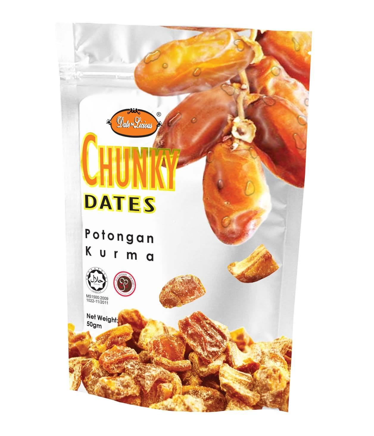 Made in Malaysia High Quality Snack Chunky Date Fruit Products