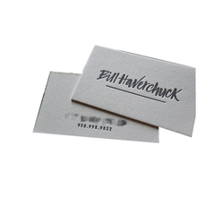 customized premium debossed letter press machine business card