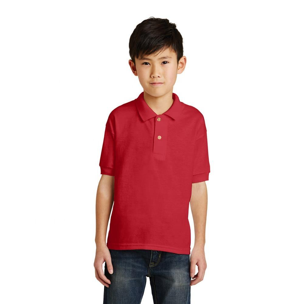 Wholesale kids boys and girls plain blank short sleeve custom children kid polo shirt