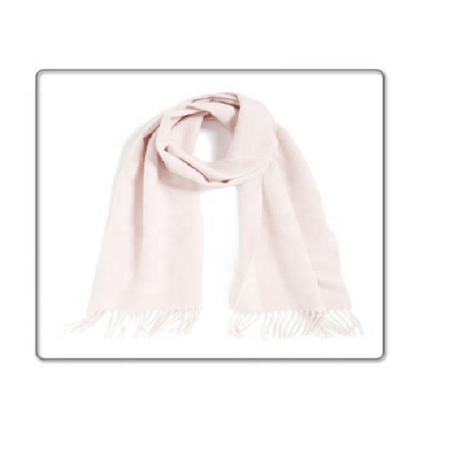 High Quality Manufacturer Of White Woven Boiled Wool Scarf.
