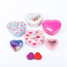 Multi Choices Heart Shape Custom Candy Gift Metal Packing Food Container Tin Mint Box