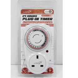 High Quality 24 Hours Plug-in Timer with automatically on/off at preset time Function with best price Made in Japan