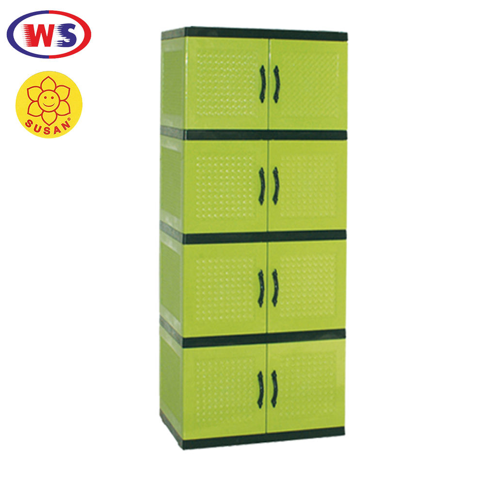 Four Stack Rattan Wardrobe