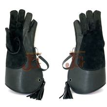 falconry gloves Wholesale 2 Layer AND 3 LAYER /Double Skinned 13 Inch Long Cowhide Nubuck Leather Falcon/Falconry Glove