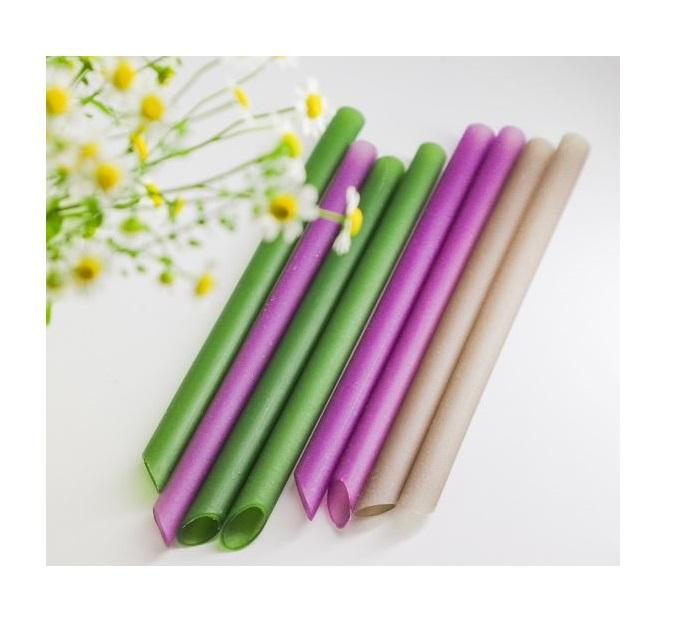 Natural Food Safe Eco Friendly Biodegradable Rice Flour Drinking Straws Best Selling on Amazon