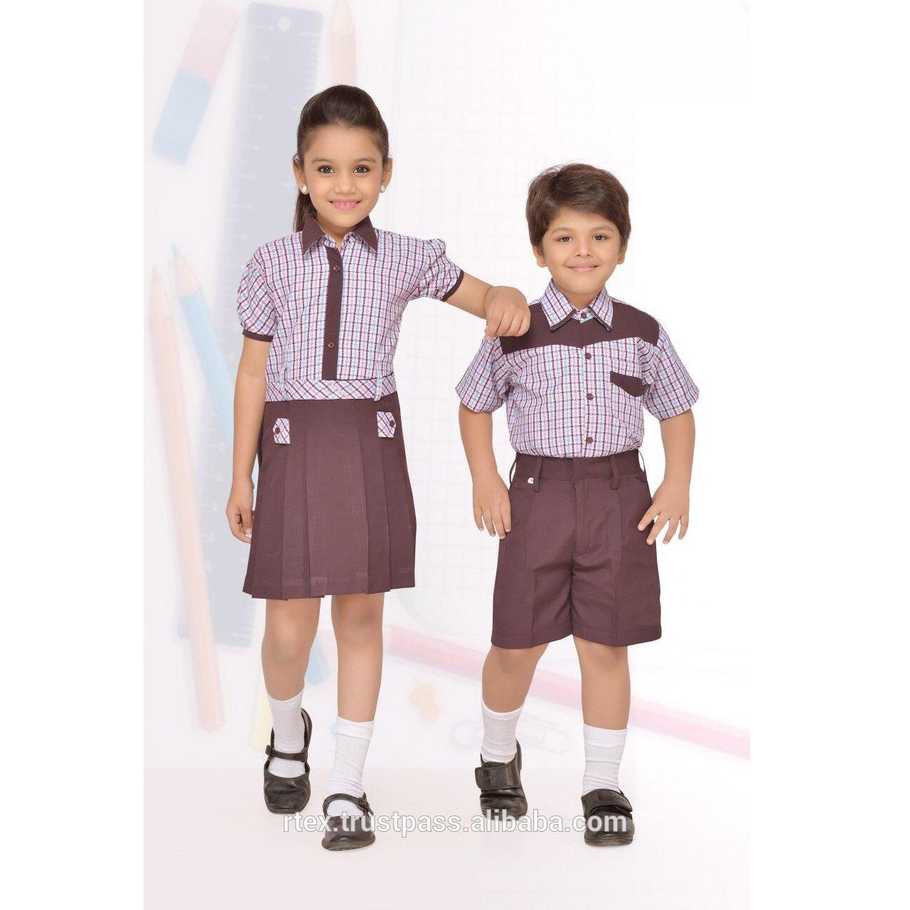 Customized school uniform with school logo embroidered or printed for all age - S32