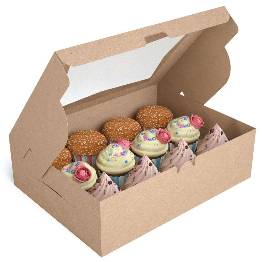 Custom take away paper boxes cake boxes for cupcake and bakery packing from NaiYa, china