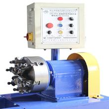 Heat exchanger spiral flutes tube twisting machine