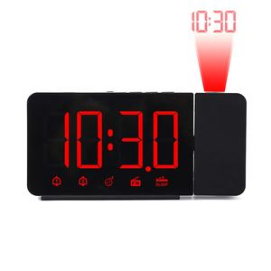 Amazon hot selling LCD Projection Alarm Clock with time project desk alarm clock