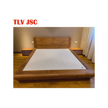 High quality walnut bed bedroom sets furniture export quality made in vietnam