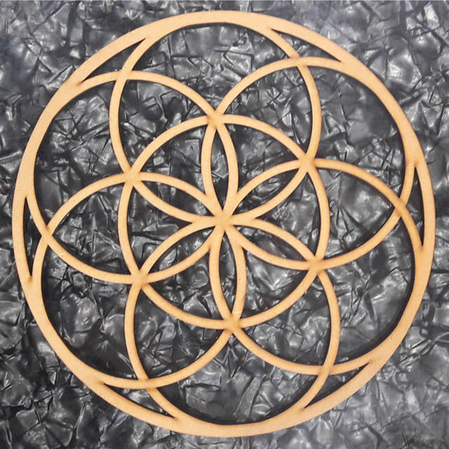 8 ,10,12 inch Round Crystal Grid Spiritual Sacred Wood MDF Wall Hanging Geometry Wall Art Home Decor Meditation Energy Balance