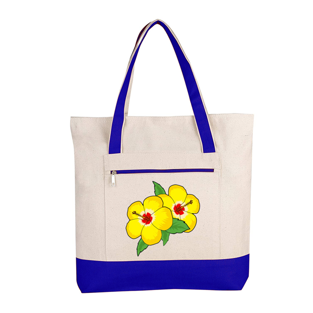 In Canvas bag with nice print and cotton handle our certification ISO 9001-2015 ISO 14001-2015 SA 8000-2014