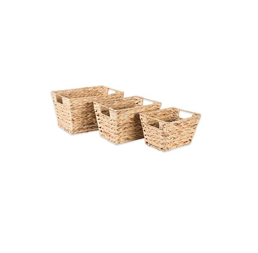 New product decorative eco-friendly natural water hyacinth woven storage basket. Angelina WA: +84327746158