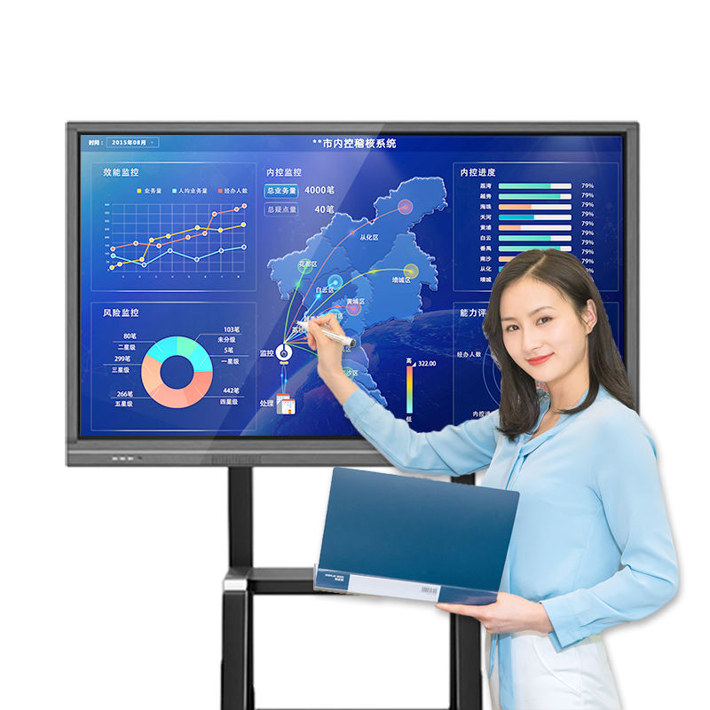 65 Inch Smart Schermen Infrarood Interactieve Flat Panel Bord Led Touch Screen Kantoor White Board