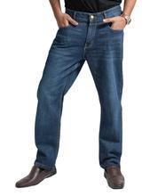Mens Regular Fit Medium Blue Denim Pant