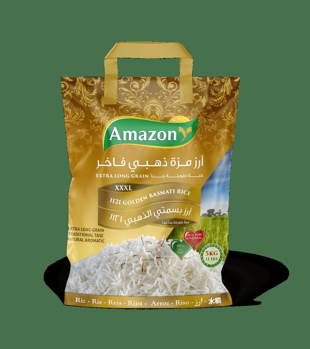 Amazon Golden Sella Basmati Rice, 1121 XXL