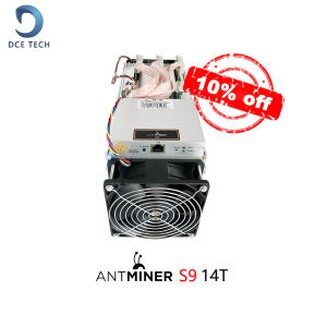 Stock Cheap Second hand AntMiner S9 13.5T Bitcoin Miner ASIC BTC Bitmain Mining Machine With Power Supply