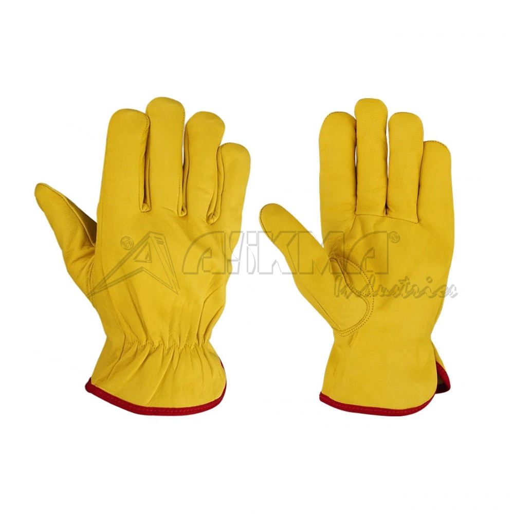 Top Grain Goatskin Leather Drivers Gloves with Keystone Thumb Cheap price best quality work safety glove