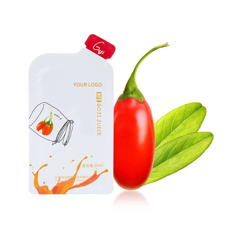 TOP Selling 30ML Sachet Packing Chinese Goji Berry Juice Drinks