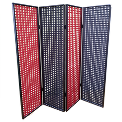 Room Dividers Woven Polyester Fabric Folding Screen Aluminum Track Quantity Customizable Factory direct