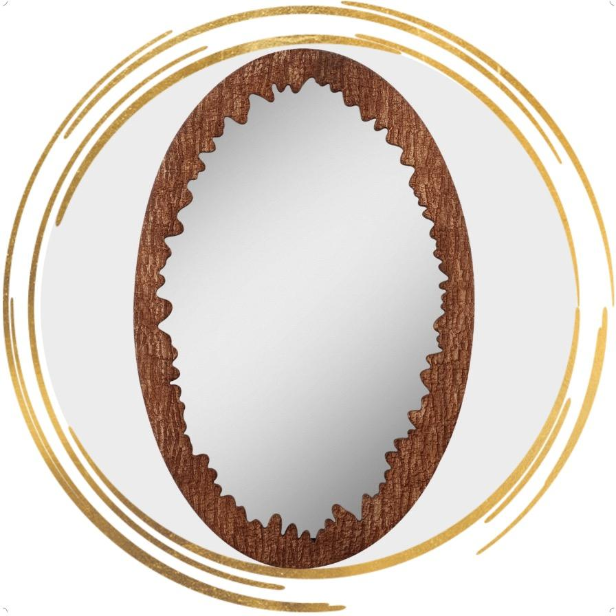 BestファッションWholesale Simple寝室ミラーHanging Round Wooden Framed Wall Mirror Homeのための楕円形のミラー