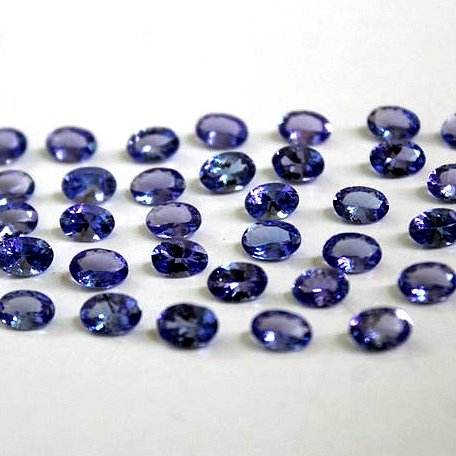 Natural Tanzanite Faceted Oval shape Rose Cut loose gemstone cabochon for making jewelry wholesale price per carat