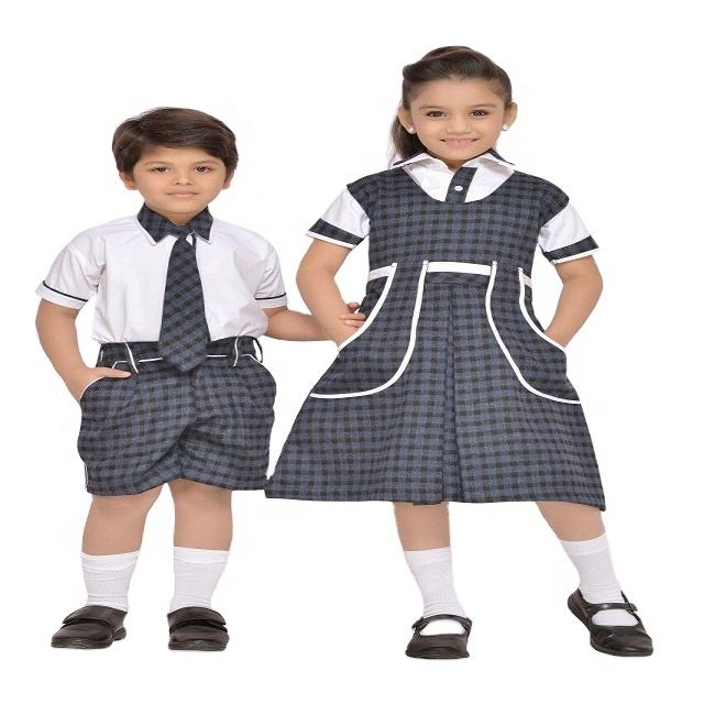 Polyester Cotton school uniform fabric and garment for all sizes