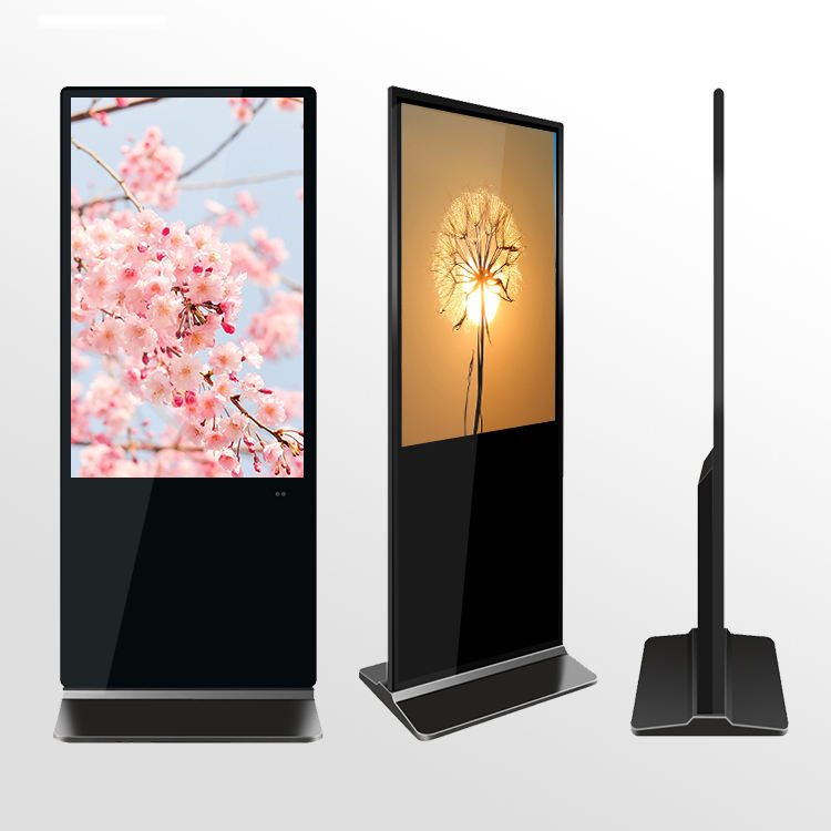 Shopping Mall LCD Digital Signage โฆษณา Monitor Stand Alone แนวตั้งหน้าจอ FHD Media Player Totem