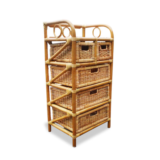 Rattan Natural Storage With 3+2 Drawers