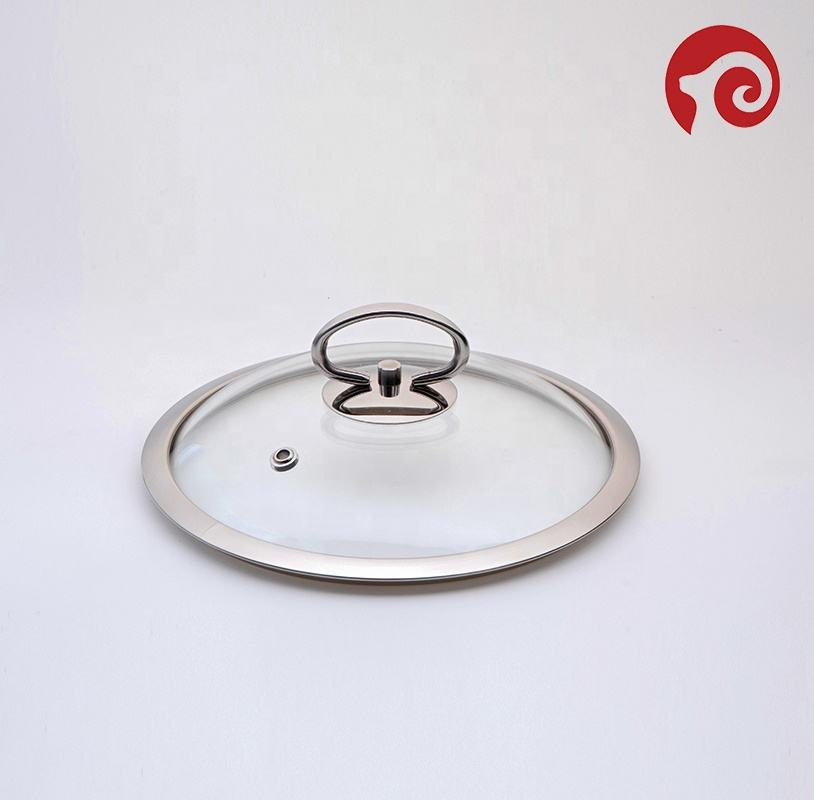 tempered glass lid with handle pot handle
