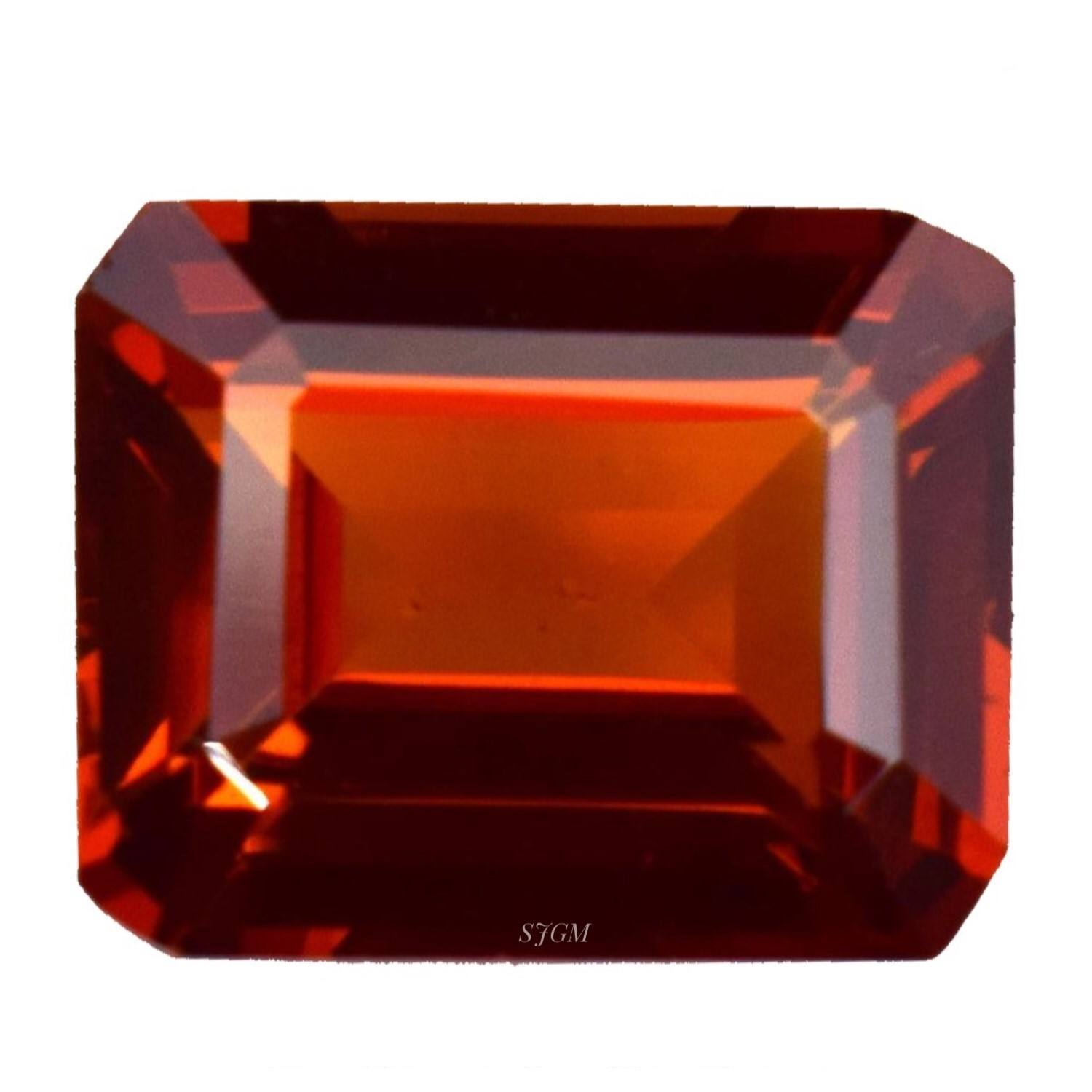 """ Natural Hessonite Garnet Octagon Cut All Size "" 