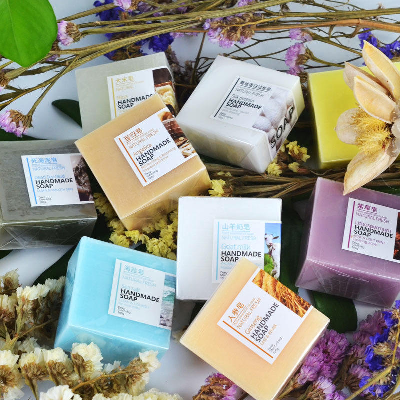 OEM Wholesale Organic Cold Pressed Soap Natural Hotel Oil Soaps Deep Cleaning Skin Care Whitening Handmade Soap Bar