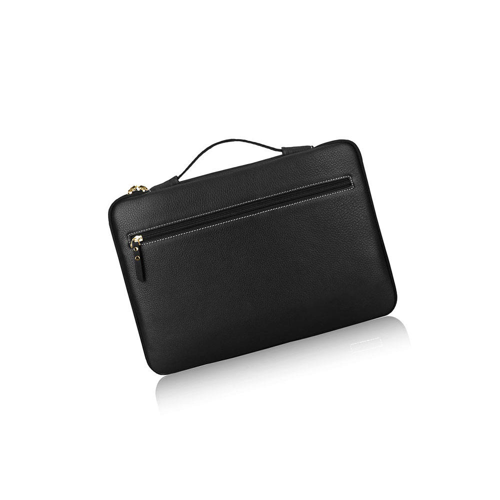 classic 15.6 inch custom genuine leather smart laptop sleeve made
