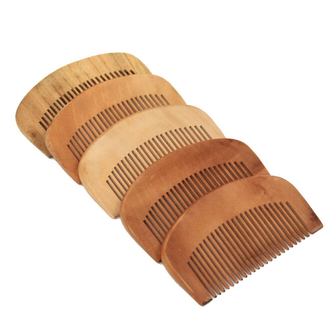 High quality handmade personalized wood beard comb bulk natural wooden comb
