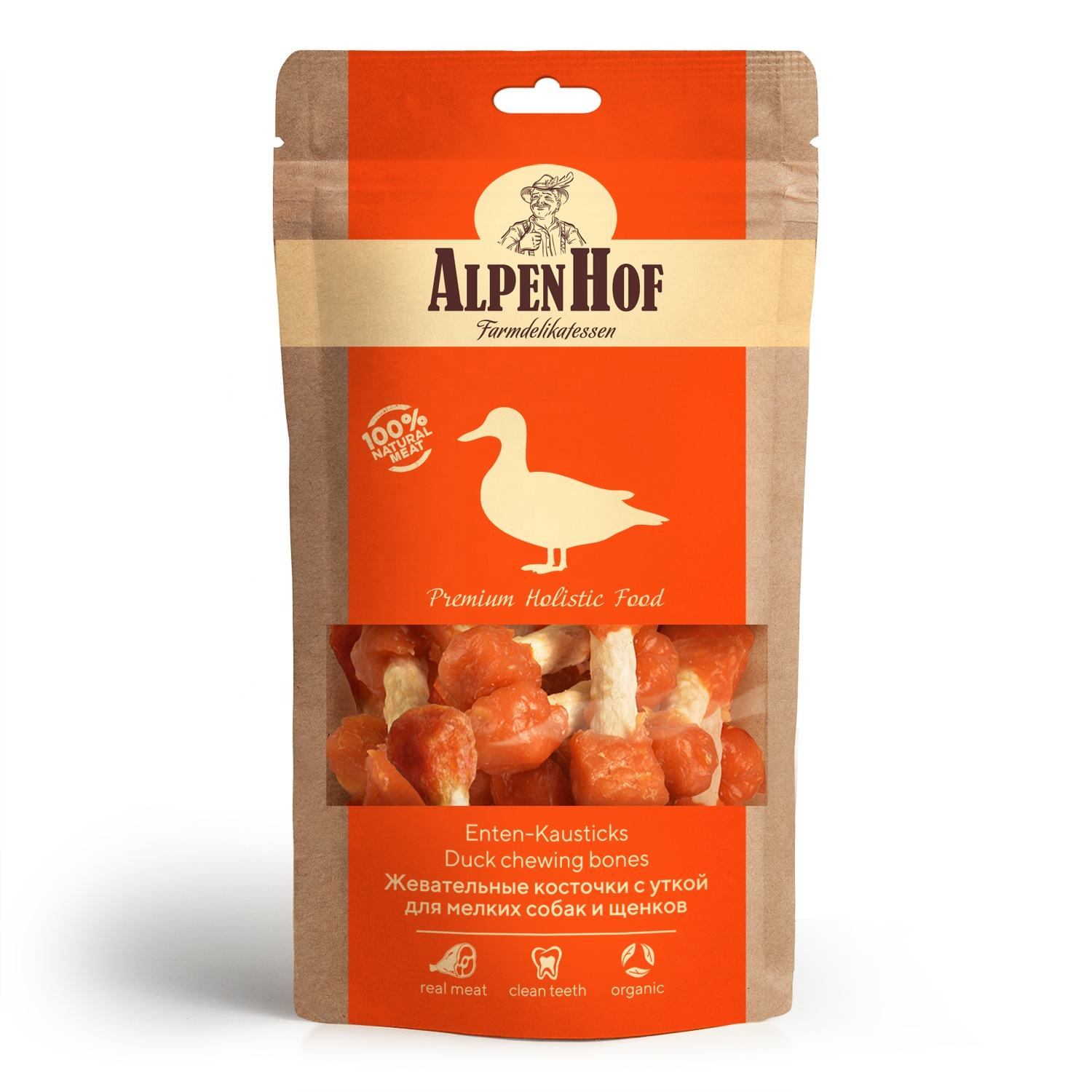 AlpenHof Duck chewing bones for puppies/small dogs 50 g. Meat And Animal Products