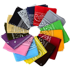Cheap Customized Solid Color Blank 100% Cotton Plain Fashion Seamless Scarf Bandana
