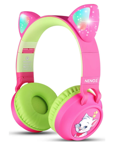 Bluetooth Kids Headphones Wireless Kids Headphones 93dB Limited Volume Wireless Headphones for Kids LED Lights