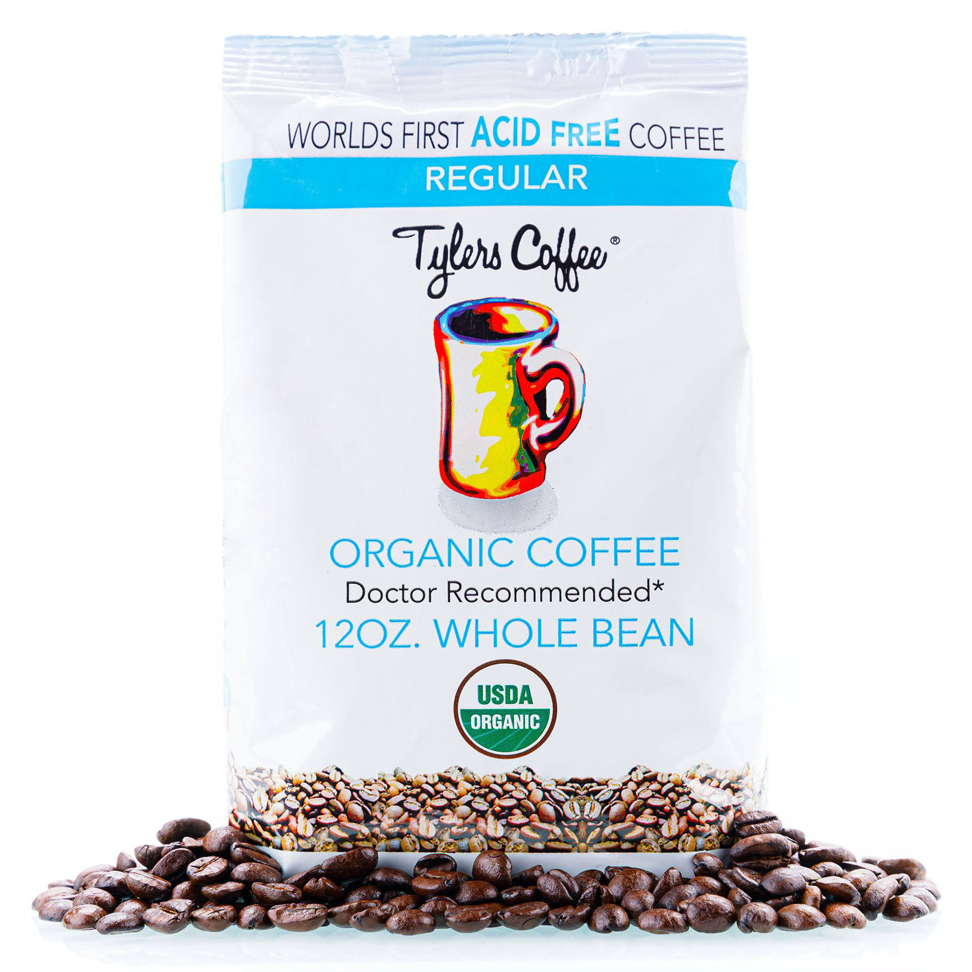 USDA Organic Certification, Made in United States of America Regular whole bean (12oz bag)