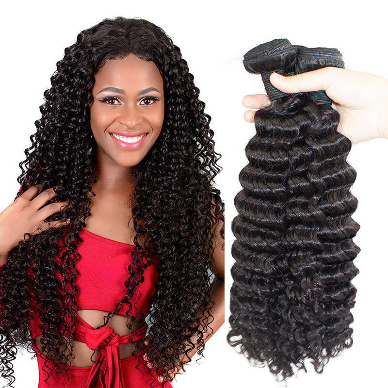 Morein deep wave shop online cuticle aligned hair manufactured raw indian hair bundles vendors human hair extension