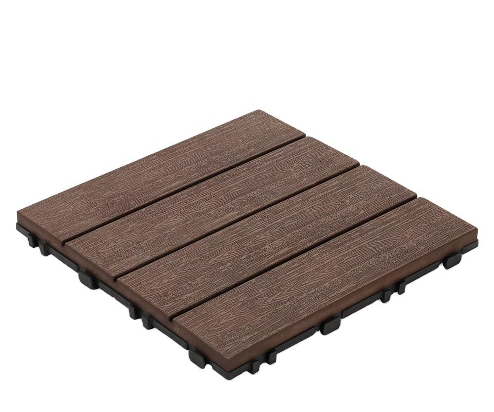 Cheap Prices Termite Proof Wood Plastic Flooring Tiles for Outdoor