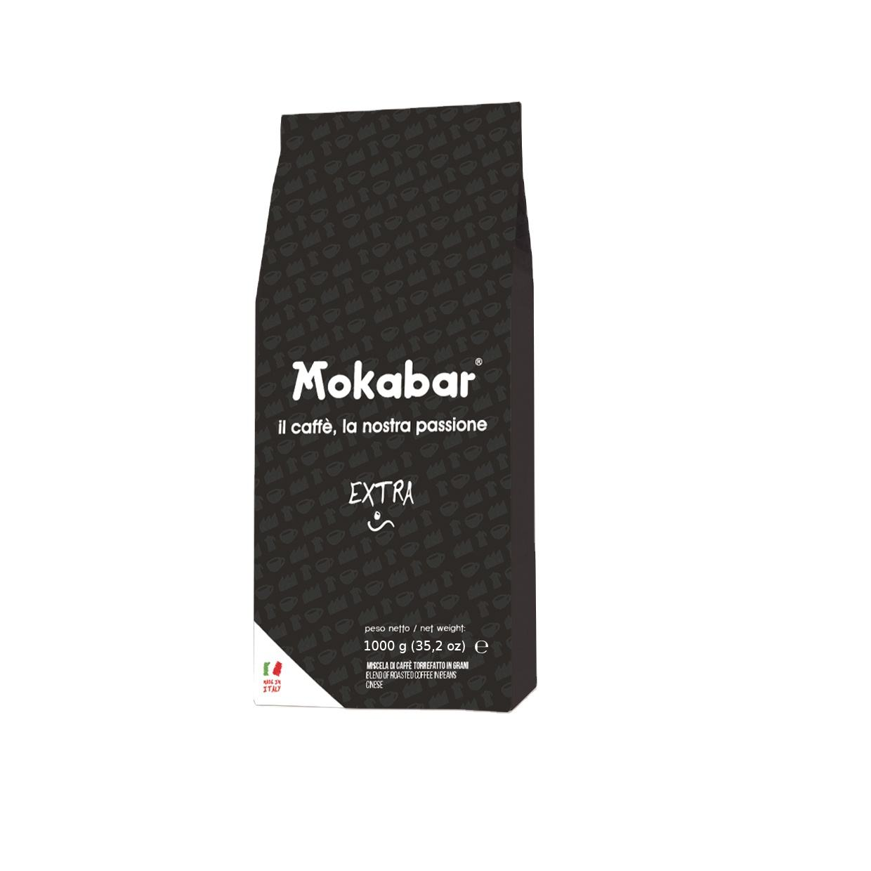 Mokabar - EXTRA coffee 1 kg - 70% Arabica and 30% Robusta coffee beans - Bar Line - Brazilian coffee beans