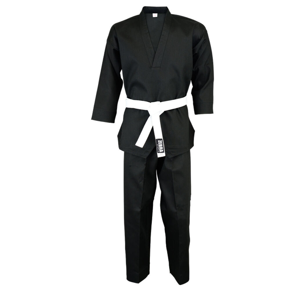Wholesale Martial Arts Fighter Taekwondo Gi Suit Cotton/Polyester Ribbed Uniforms WTF