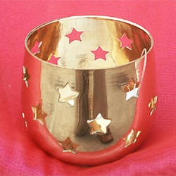 Brass Tealite with perforated Star design