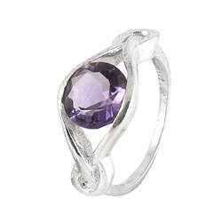 Shining purple amethyst rings Indian silver jewelry solid 925 sterling silver rings manufacturer handmade jewelry suppliers