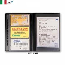 TAM CUSTOM PVC CAR DOCUMENT HOLDER WITH 2 INNER POCKETS AND BUSINESS CARDS CASE   13 x 19  cm DESIGNED&MADE IN ITALY