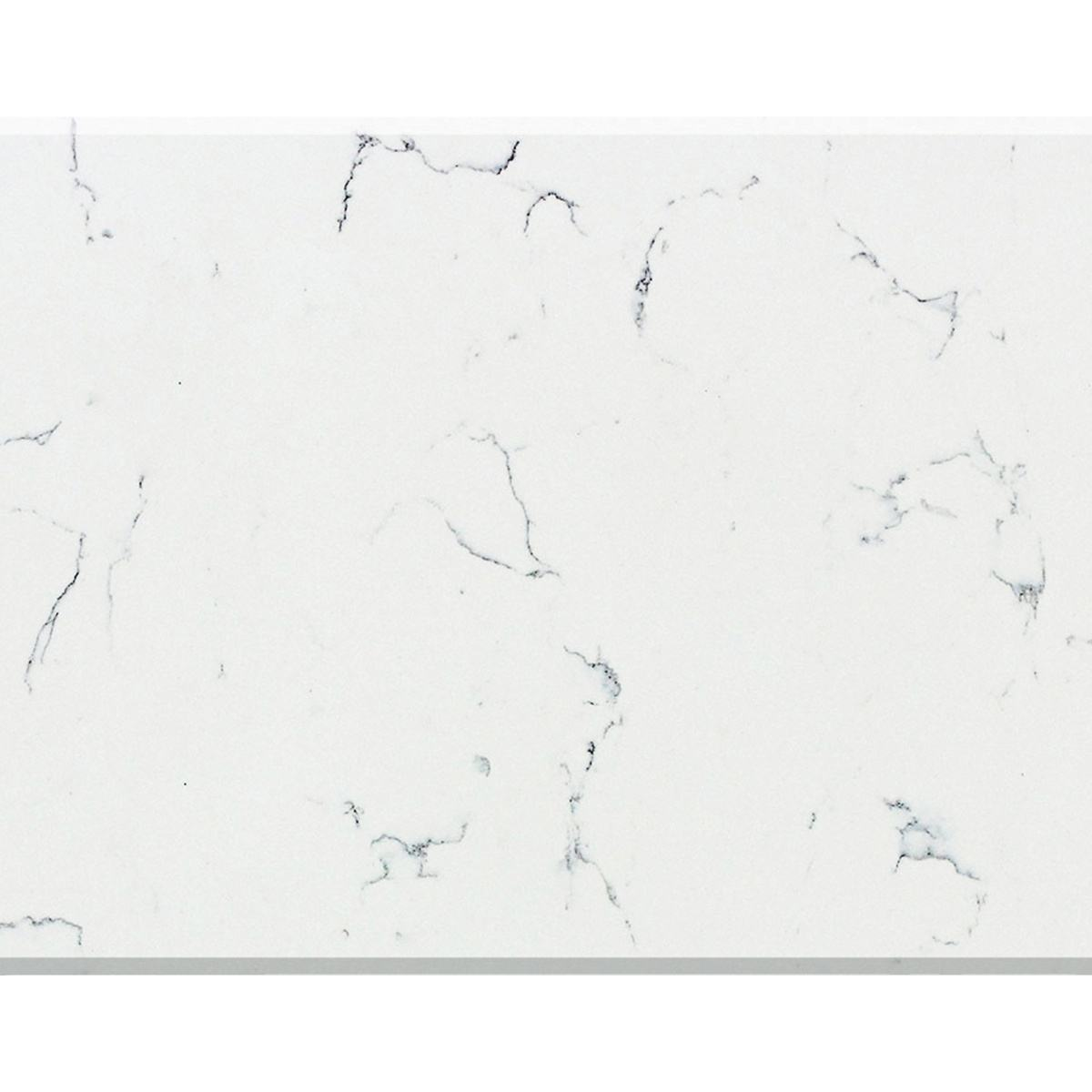 Pure White Surface of Marble with Grey Veins Quartz Stone - Vicostone Ventisca BQ8330