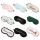 Hot Sale Logo Printed Travel Silk Eye Sleep Mask Eye Patch/Mask For Eyes Relaxing