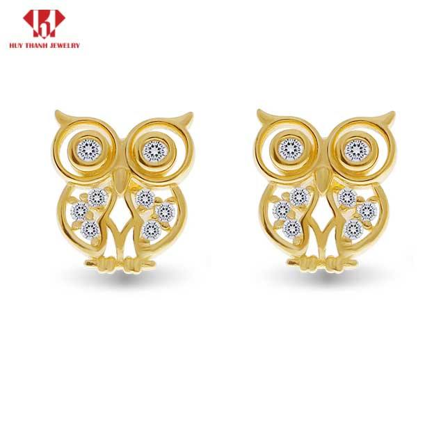 14k solid gold jewelry wholesale earrings jewelry for women fashion with cubiczirconia- HuythanhJewelry - Vietnam manufacturer