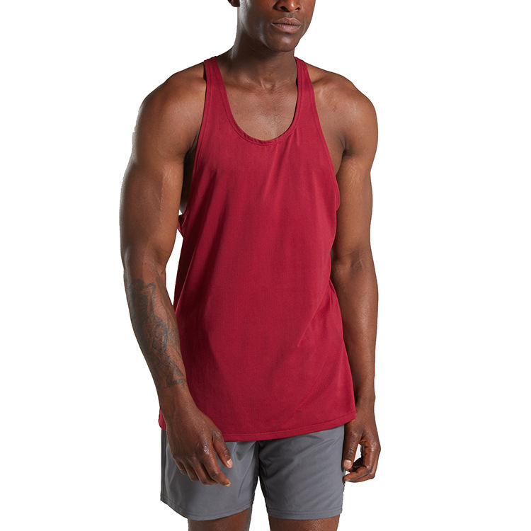 Gym Mannen Stringer <span class=keywords><strong>Tang</strong></span> <span class=keywords><strong>Top</strong></span> Vest Goedkope Gym Bodybuilding Workout Singlet Oem Custom Ontwerp Running Sportkleding Fitness Tank Tops